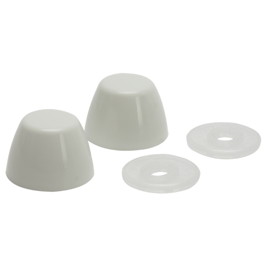 7115   Toilet Bowl Bolt Caps, White